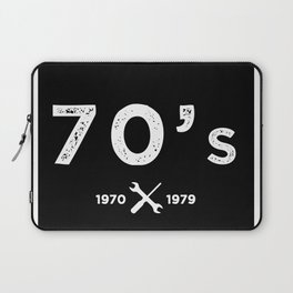Born in the 70's. Certified Awesome Laptop Sleeve