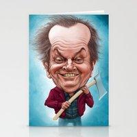 jack nicholson Stationery Cards featuring Jack Nicholson caricature by Jordygraph