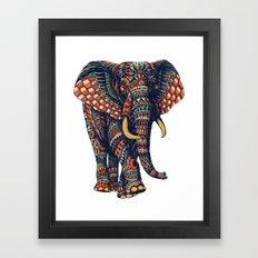 Ornate Elephant v2 (Color Version) Framed Art Print