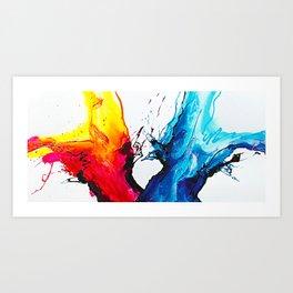 Abstract Art Britto - QB292 Art Print Art Print