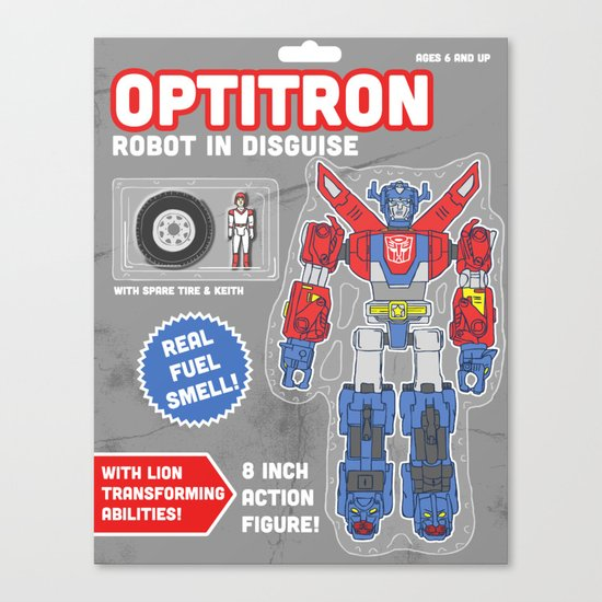 Optitron: Robot in Disguise Canvas Print