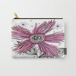 My Funky Valenting - Zentangle Pink Flower Carry-All Pouch