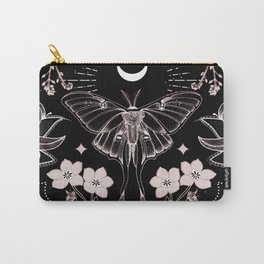 Bohemian Luna Moth On Black Carry-All Pouch