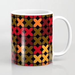 An abstract geometric pattern . Rustic . Coffee Mug