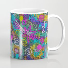 Starz n Splatz in YeLLoW PiNk AqUa Coffee Mug