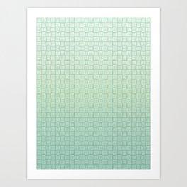 Carbon Fiber Turquoise Art Print