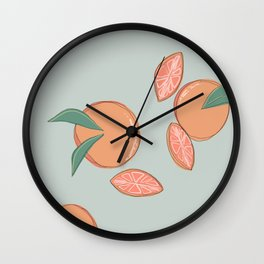 Fruity Grapes Wall Clock