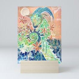 Capricorn the Sea Goat Mini Art Print