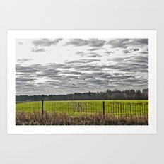 Winter Farming Art Print