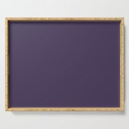 Jam It Up Dark Purple Solid Color Pairs To Sherwin Williams Concord Grape SW 6559 Serving Tray