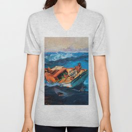 African American Masterpiece, At Any Cost, The Gulf Stream seascape landscape painting Unisex V-Neck