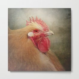 The Wise old Hen Metal Print