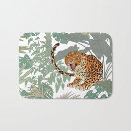 Leopards in the jungle pattern. Bath Mat