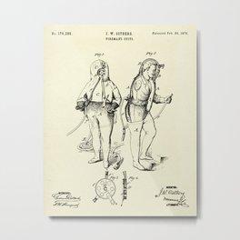 Fireman's Suits-1876 Metal Print