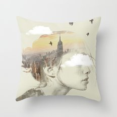 New York City Drifting Throw Pillow
