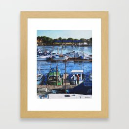 Southampton River Itchen from Cobden Bridge Framed Art Print