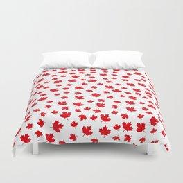 Canada Maple Leaf-White Duvet Cover