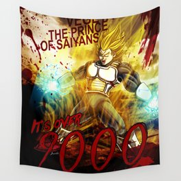 Vegeta Over 9000! Wall Tapestry