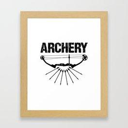 Archery Archer Bow Hunter Bowman Hunting Gift Framed Art Print
