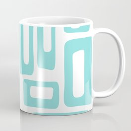 Retro Mid Century Modern Abstract Pattern 731 Turquoise Coffee Mug