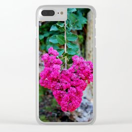 Heart Shaped Crape Myrtle Flowers Clear iPhone Case