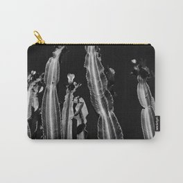 Cactus - black and white Carry-All Pouch