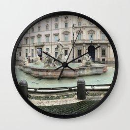 3 legged man in Piazza Navona Rome Italy Wall Clock