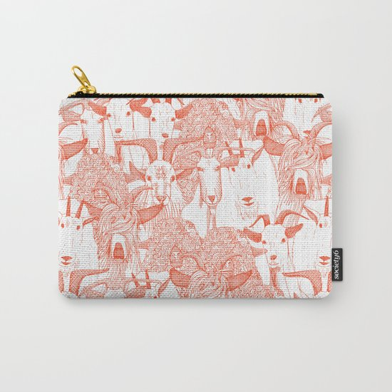 just goats flame orange Carry-All Pouch
