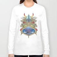 viking Long Sleeve T-shirts featuring Viking by Sally Renshaw