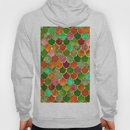 Greens & Gold Mermaid Scales Hoody