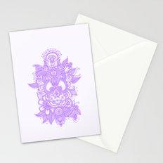 Purple Henna Stationery Cards