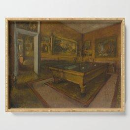 Billiard Room at Ménil-Hubert Serving Tray