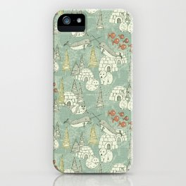 arctic retro iPhone Case