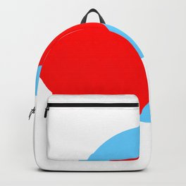 Compass: Blue and Red Backpack
