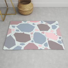 Seamless Pattern, differently colored stones Rug
