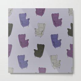 Seventies Armchair Pattern - Version 6 #society6 #seventies Metal Print