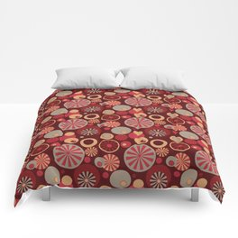 Circle Frenzy - Red Comforters