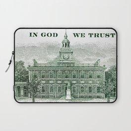 cash money old Ben 100 bucks dollars  us currency  in God we Trust Laptop Sleeve