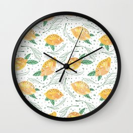 Lemonlicious Lemon Pattern Wall Clock
