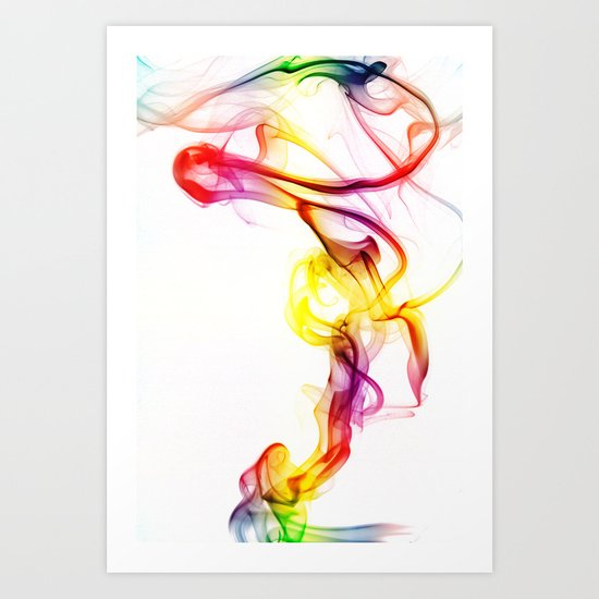 Smoke Art 81 Art Print