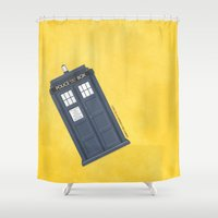 doctor Shower Curtains featuring 9th Doctor - DOCTOR WHO by LindseyCowley