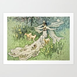 Fairy in the Meadow Art Print