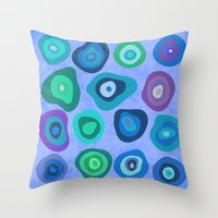 biology Throw Pillows featuring CELLS by THE USUAL DESIGNERS