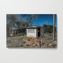 Abandoned Motel Modern Restrooms Route 66 Bard New Mexico Metal Print