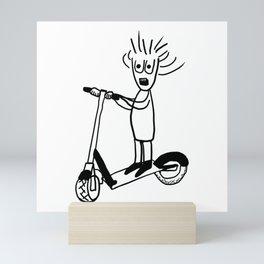 Whack World Full Speed Electric Scooter Mini Art Print