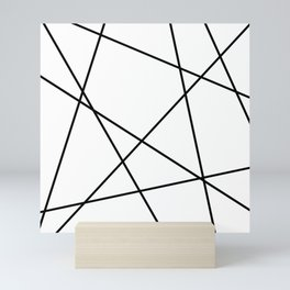 Lines in Chaos II - White Mini Art Print