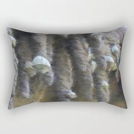 Chalk sketch of shells on stalactites Rectangular Pillow