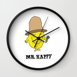Mr. Happy Wall Clock