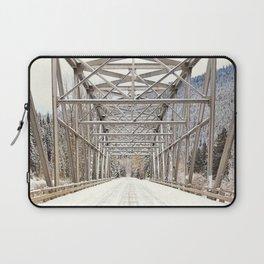 Snow Covered Bridge Laptop Sleeve