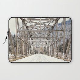 Snow Covered Bridge Laptop Sleeve